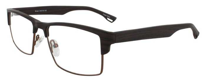 Prescription Glasses Model DC124-BROWN-45