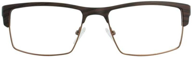 Prescription Glasses Model DC124-BROWN-FRONT