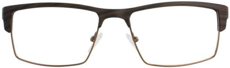 Prescription Glasses Model DC124-BROWN-FRONT