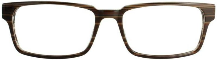 Prescription Glasses Model DC125-BROWN-FRONT