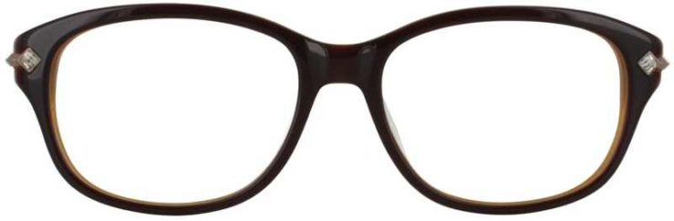 Prescription Glasses Model DC127-BROWN-FRONT