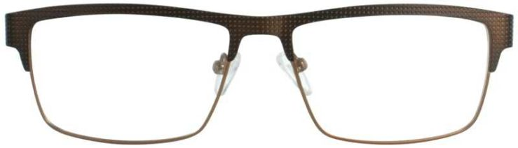 Prescription Glasses Model DC130-BROWN-FRONT