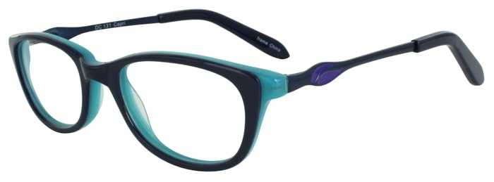 Prescription Glasses Model DC131-BLUE-45