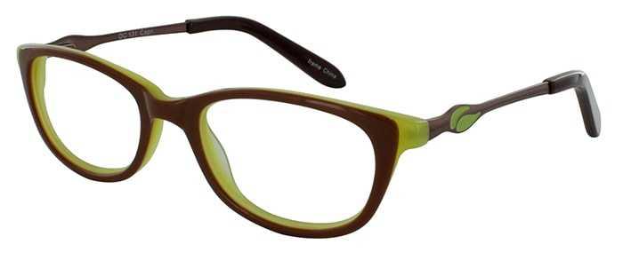 Prescription Glasses Model DC131-BROWN-45