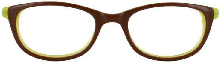 Prescription Glasses Model DC131-BROWN-FRONT