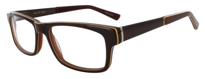 Prescription Glasses Model DC136-BROWN-45