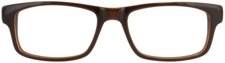 Prescription Glasses Model DC136-BROWN-FRONT