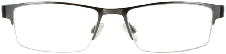 Prescription Glasses Model DC139-GUNMENTAL-FRONT