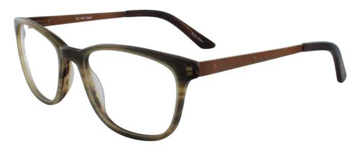 Prescription Glasses Model DC146-BROWN-45