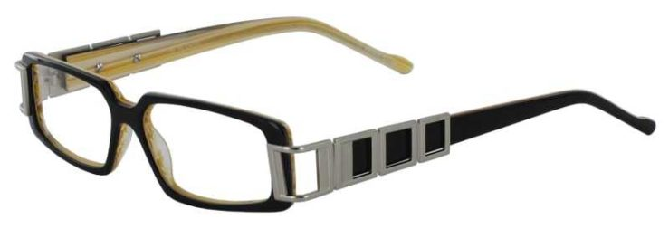 Prescription Glasses Model DC28-BLACK-45