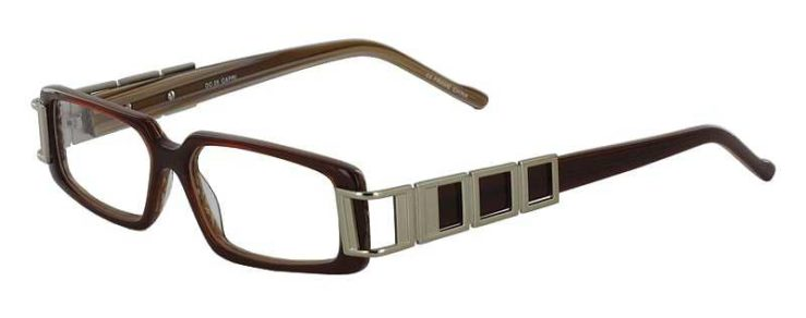 Prescription Glasses Model DC28-BROWN-45