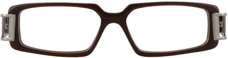 Prescription Glasses Model DC28-BROWN-FRONT