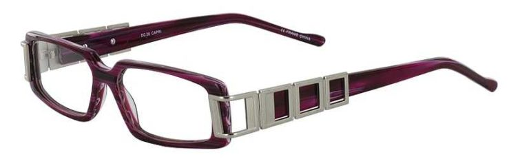 Prescription Glasses Model DC28-BURGUNDY-45