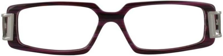 Prescription Glasses Model DC28-BURGUNDY-FRONT