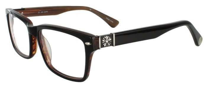 Prescription Glasses Model DC305-BROWN-45
