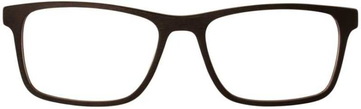 Prescription Glasses Model DC315-BROWN-FRONT