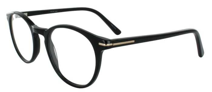 Prescription Glasses Model DC316-BLACK-45