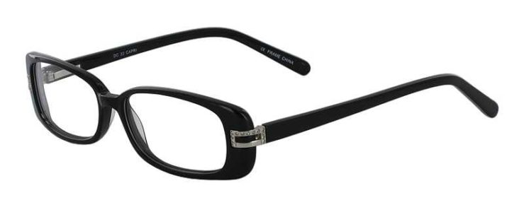Prescription Glasses Model DC33-BLACK-45