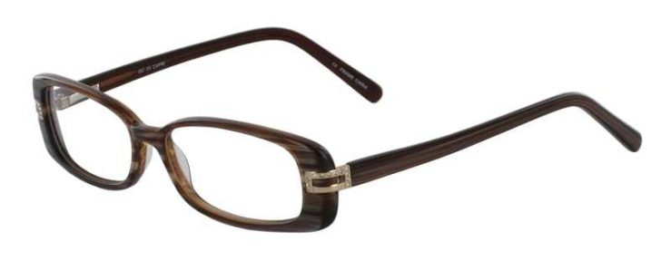 Prescription Glasses Model DC33-BROWN-45