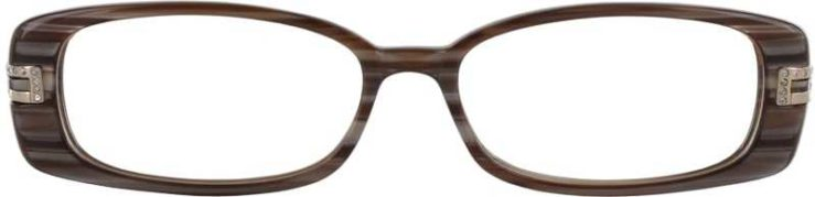 Prescription Glasses Model DC33-BROWN-FRONT