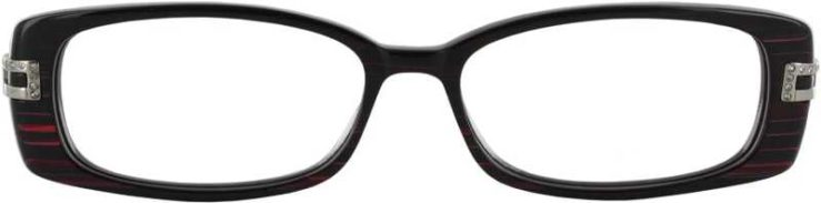 Prescription Glasses Model DC33-PURPLE-FRONT