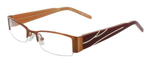Prescription Glasses Model DC36-BROWN-45
