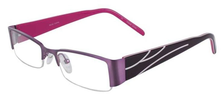 Prescription Glasses Model DC36-PURPLE-45