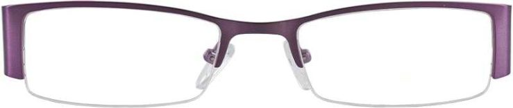 Prescription Glasses Model DC36-PURPLE-FRONT