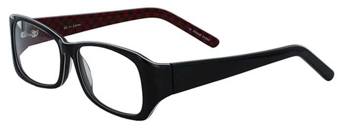 Prescription Glasses Model DC51-BLACK-45