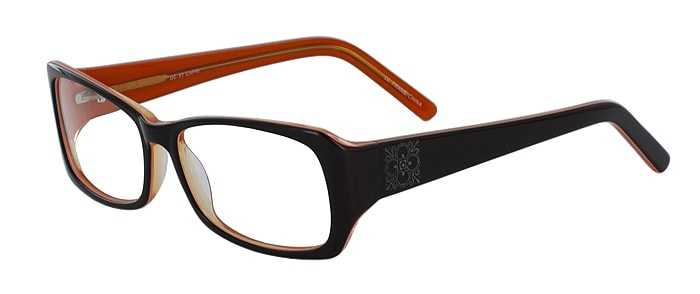 Prescription Glasses Model DC51-BROWN-45