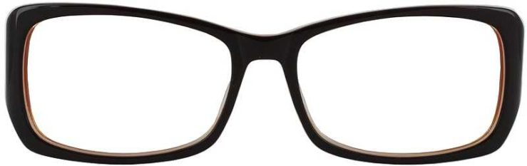 Prescription Glasses Model DC51-BROWN-FRONT