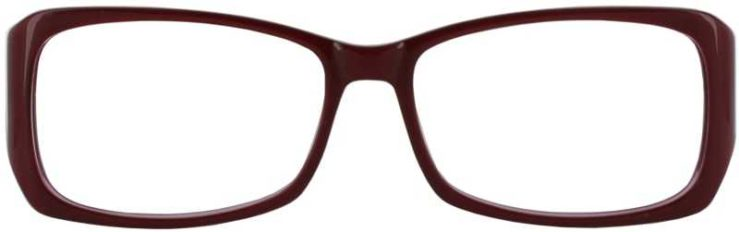 Prescription Glasses Model DC51-RED-FRONT