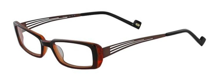 Prescription Glasses Model DC54-BROWN-45