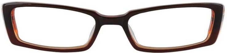 Prescription Glasses Model DC54-BROWN-FRONT