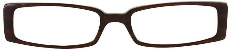 Prescription Glasses Model DC57-BROWN-FRONT