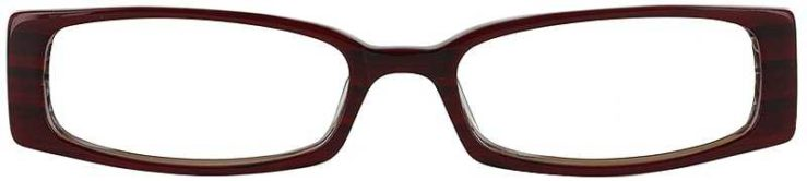 Prescription Glasses Model DC57-RED-FRONT