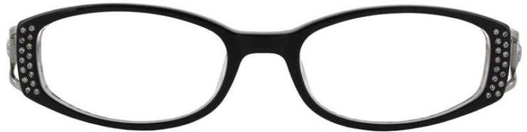 Prescription Glasses Model DC64-BLACK-FRONT