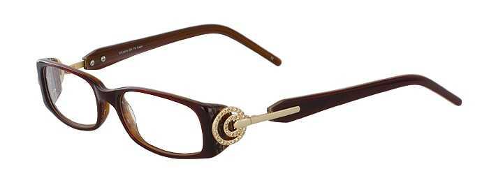 Prescription Glasses Model DC75-BROWN-WOOD-45