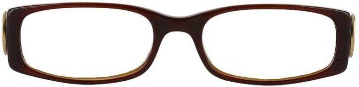 Prescription Glasses Model DC75-Brown-wood-FRONT