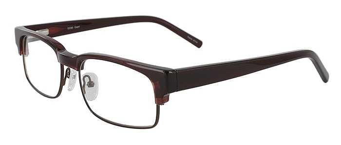 Prescription Glasses Model DC80-BROWN-45