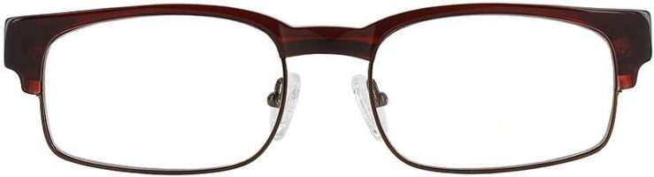 Prescription Glasses Model DC80-BROWN-FRONT