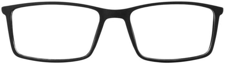 Prescription Glasses Model ETHAN-BLACK-FRONT