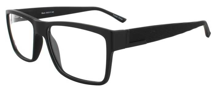 Prescription Glasses Model EVAN-BLACK-45
