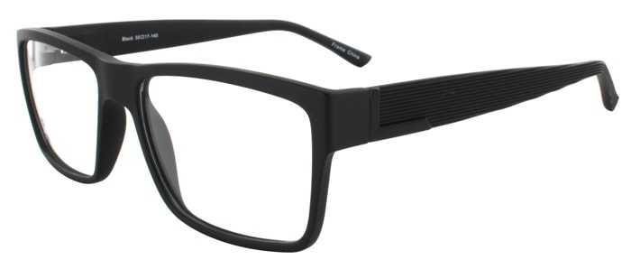 Prescription Glasses Model EVAN-BLACK-45