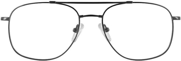 Prescription Glasses Model FX10-BLACK-FRONT