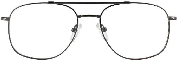Prescription Glasses Model FX10-GUNMETAL-FRONT