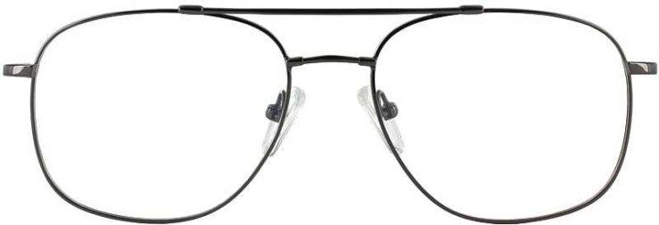 Prescription Glasses Model FX10-GUNMETAL-FRONT