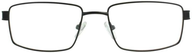 Prescription Glasses Model FX104-BLACK-FRONT