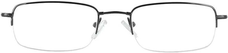 Prescription Glasses Model FX13-GUNMETAL-FRONT