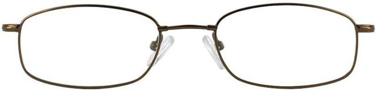 Prescription Glasses Model FX17-COFFEE-FRONT